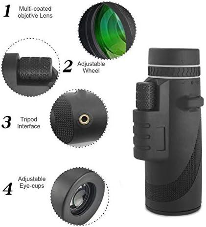 LLVV Monoculares Monocular 10 50 potentes prism/áticos Zoom Gran telescopio port/átil LLL visi/ón Nocturna Militar HD Profesional Caza