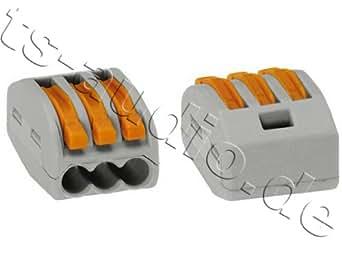 Wago–1pieza para Starre (3x 2,5mm²) y flexibles Escalera (3x 4,0mm²)