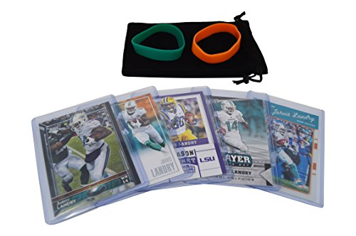 Jarvis Landry Football Cards Assorted (5) Bundle - Miami Dolphins Trading Cards (2009 Nfl Trading Cards)