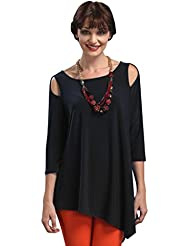 IC Collection Stunning, Asymmetric Cold Shoulder Top or Tunic