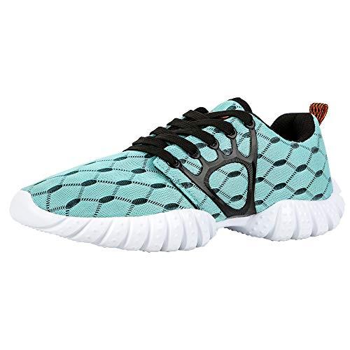 ALEADER Women's Lightweight Mesh Sport Running Shoes Light Blue 8 D(M) US