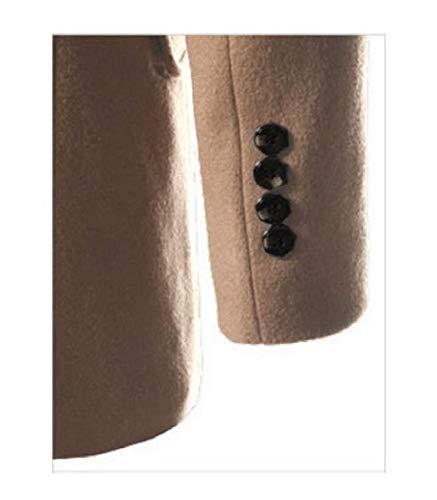 Breasted Collar Long Knit Turn MogogoMen Outwear Cardigan Double Md Parka 1 Down wX0CEdqE