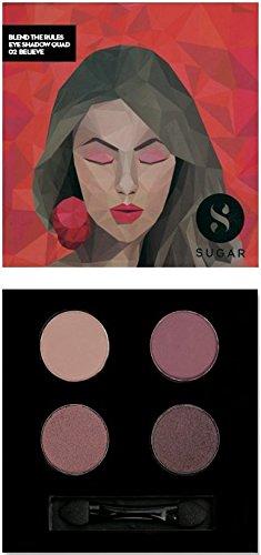 SUGAR Cosmetics Blend The Rules Eyeshadow Quad 02 Believe, 5 - Set Sugar Eye Shadow