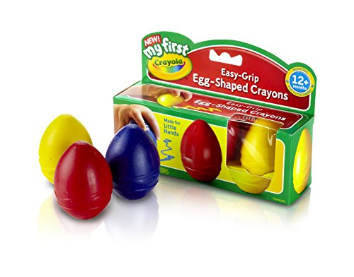 (Crayola My First Egg Crayons, Easy-Grip)