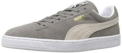 PUMA Suede Classic Sneaker,Steeple Gray/White,4 M US Men's