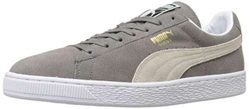 PUMA Suede Classic Sneaker,Steeple Gray/White,9.5 M US Men's