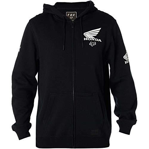 Hoody Honda Sweatshirt (Fox Racing Men's Fox Honda Hoody Zip Sweatshirts,Small,Black)