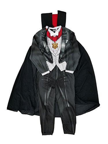 Briefly Stated Mens Count Dracula Vampire Costume Union Suit Fleece Pajamas & Cape -