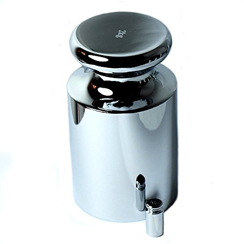 GHP 2000g High Quality Chrome & 10g Standard Calibration Weight Set by Globe House Products