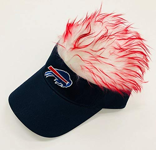 - Concept One Accessories NFL Buffalo Bills Flair Hair Adjustable Visor, Navy