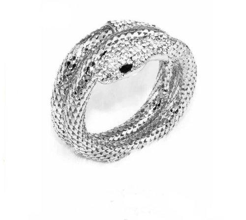 Multi Strand Snake - Exaggerated Personality Punk Bracelet. Nightclubs Wind. Diamond Multi-strand Snake Bracelet. Retro Bracelet (Silver color)