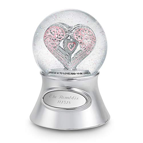 Things Remembered Personalized Say It with Love Musical Snow Globe with Engraving Included by Things Remembered