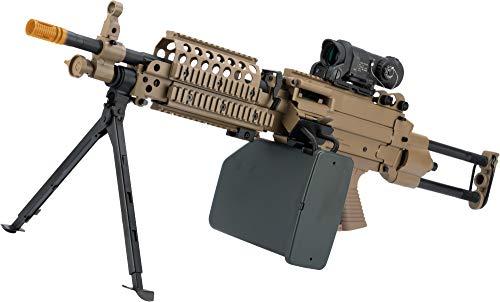 Evike Cybergun FN Licensed M249 Airsoft Machine Gun (Version: SPW/Dark Earth/AEG)