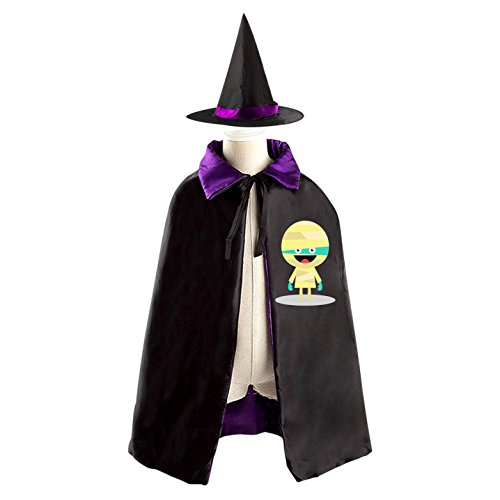 Cute Mummy Double Side Costume Witch Cape Cloak Kid's Cap for Halloween