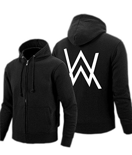 Kigcos Alan Walker Logo Unisex Zip Hoodies Cosplay Costome