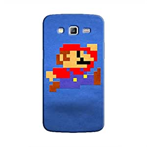 Cover It Up - Mario Pixelated Blue Galaxy Grand 2 G7106 Hard Case