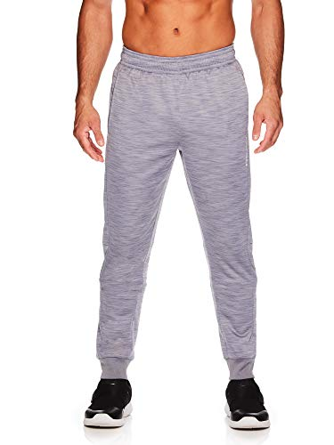 HEAD Men's Jogger Running Pants - Performance Workout & Jogging Activewear Sweatpants - Lazer Quicksilver Heather, Medium