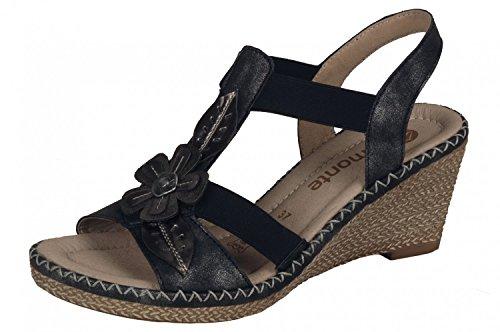 D6737 schwarz grau 41 36 Black Remonte Sandal 45 Gr Women 8q11UwE