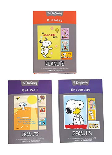 (Dayspring Peanuts Boxed Cards, Birthday, Encouragement, Get Well (36 Cards With Envelopes))