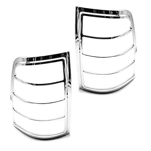 LJ INTERNATIONAL Quality Accessories Chrome Plated Taillight Covers Compatible with Ram