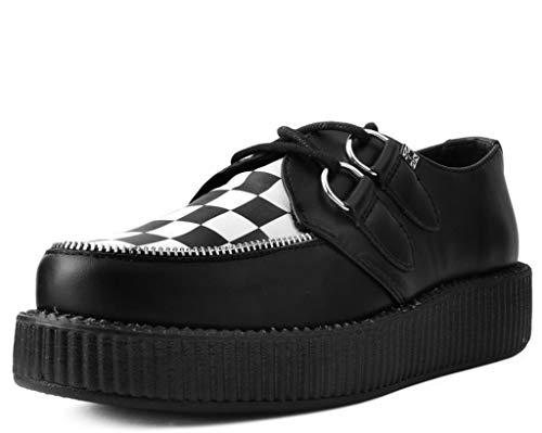 T.U.K. Shoes V9536 Unisex-Adult Creepers, Black & White Checkered Viva Mondo Creeper - US: Men 12 / Women 14 / Black/White/Synthetic - Mondo Creeper Shoe