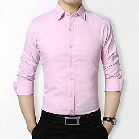 KunZhangVerano, Traje, Camisa Manga Larga Masculina Vestido ...