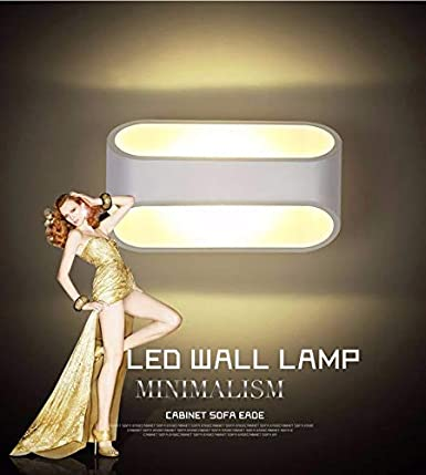 Modern LED Wall Lights for Living Room Bedrooms Wall Lamp Waterproof Up Down Wall Sconce with Adjustable Front Shield for Garden Hallway Warm White Energy Class A+++
