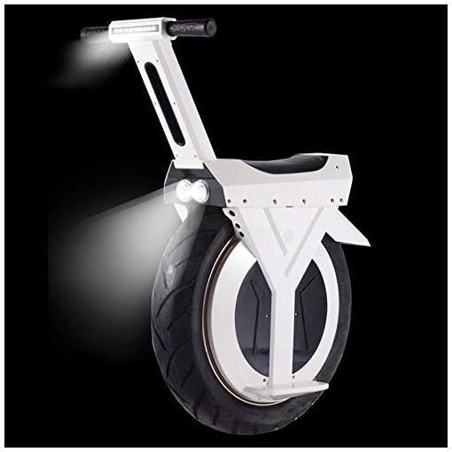 HLL Scooter électrique monocycle, 17″ 60V / 500W, Scooter électrique, avec Bluetooth Haut-parleur 30 km, E-Scooter, Gyroroue Unisex Adult