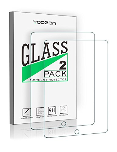 New iPad 9.7 Inch 2017/iPad Pro 9.7 Inch/iPad Air 2/iPad Air Screen Protector Glass [2-Pack],Yoozon Tempered Glass Screen Protector for Apple iPad Air, iPad Air 2, iPad Pro 9.7,iPad 9.7 [2-Pack] by yoozon