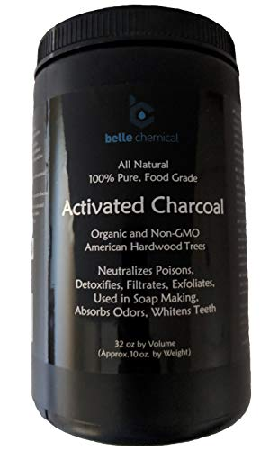 Organic and Non-GMO American Hardwood Activated Charcoal - Pure 100% Hardwood Activated Charcoal Powder - FCC and NSF for Food and Water (32oz jar)