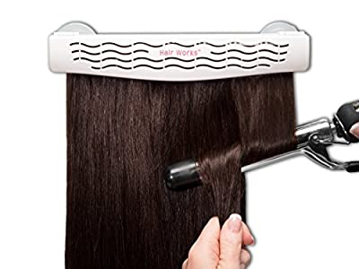 Hair Works 4-in-1 Hair Extension Style Caddy - Lightweight, Waterproof and Portable, This Hair Extension Holder Is Designed To Securely Hold Your Extensions While You Wash, Style, Pack and Store Them
