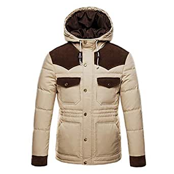 Winter Thick Hooded Parkas 90% White Duck Down Jackets Men