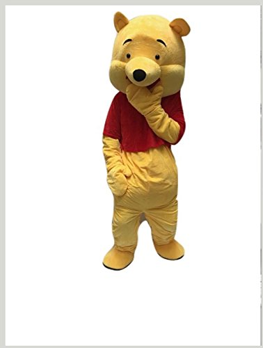 Winnie Pooh Mascot Costume Adult Size For Birthday Girl or Boy Party Event Halloween - Kanga Winnie The Pooh Costume