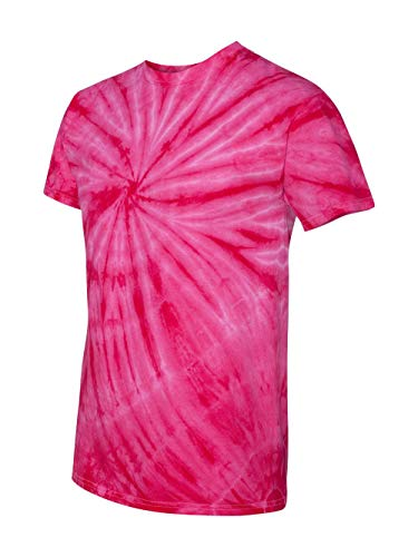 Faded Cyclone Scattered Pattern Design Unisex Adult Tie Dye T-Shirt Tee -