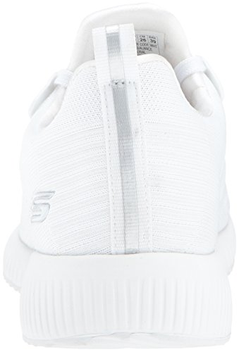 Blanc Enfiler Skechers Squad Femme Frame Baskets Bobs Photo ww6Tqxz4