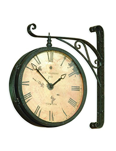Bassett Mirror Victorian RR Clock with Black/Copper Rub
