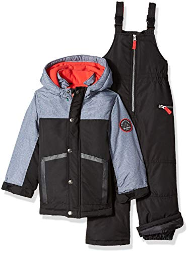 Carter's Boys' Little Heavyweight 2-Piece Skisuit Snowsuit, Very Black/Grey Texture, 5/6