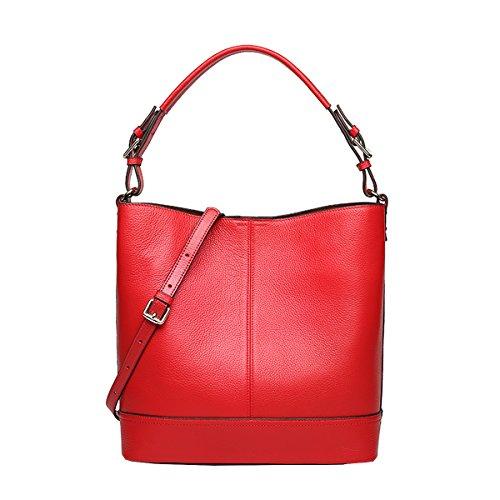 Lisa Mujer Piel Rojo Bolso Al Hombro Para De Dissa Medium wTXq0I
