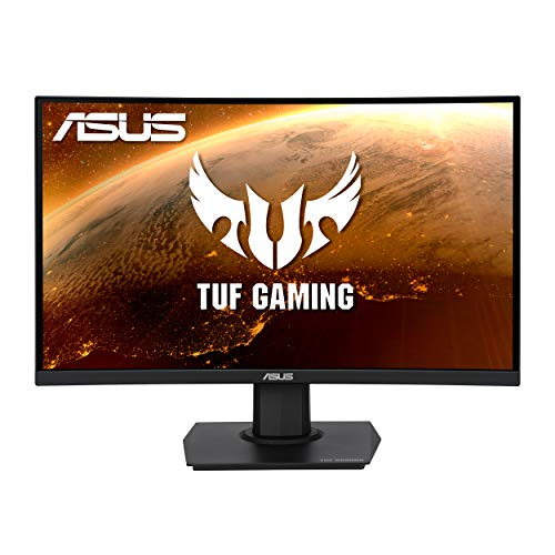 Monitor curvo ASUS TUF Gaming 23.6 1080P (VG24VQE) - Full HD, 165Hz, 1ms, Desenfoque de movimiento extremadamente bajo, Adaptive-Sync, FreeSync Premium, Shadow Boost, VESA Mountable, DisplayPort, HDMI