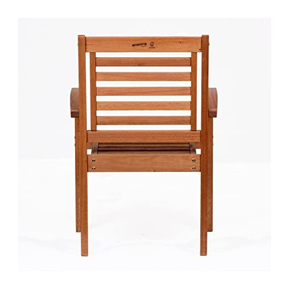 Amazonia Stackable Eucalyptus Chair - Amazonia Eucalyptus Collection Armchair Dimensions: 20Lx24.5Wx35H. Armchair Seat Dimensions: 17Dx20Wx17H. High Quality Eucalyptus Wood (Eucalyptus Grandis) - patio-furniture, patio-chairs, patio - 41T8tw2Bm6L. SS570  -