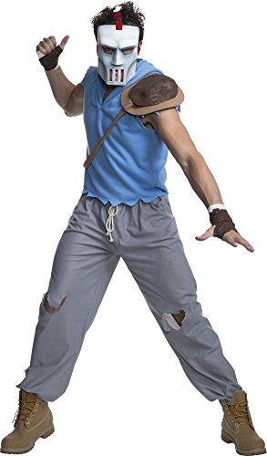 Bad Ninja Turtle Costume (Rubie's Costume Men's Teenage Mutant Ninja Turtles Casey Jones Adult Costume, Multi-Colored, Standard)