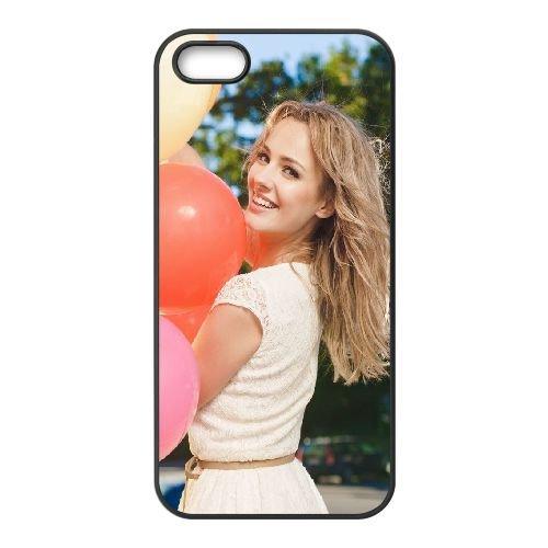Girl Smile Balloons 91842 coque iPhone 5 5S cellulaire cas coque de téléphone cas téléphone cellulaire noir couvercle EOKXLLNCD24032