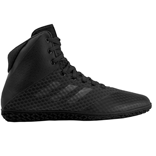 adidas Mat Wizard 4 Men's Wrestling Shoes, Carbon/Black, Size 13 by adidas