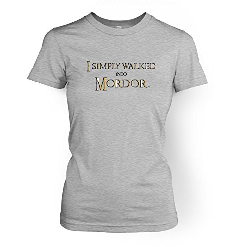 - Gold I Simply Walked Into Mordor Womens T-shirt - Sport Grey X Small (approx