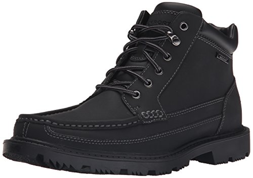 Rockport Men's Redemption Road Waterproof Moc Toe Boot- Black-10  M ()