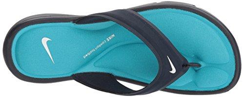 NIKE Women's Ultra Comfort Thong Sandal, Obsidian/White/Chlorine Blue, 8 B(M) US - Image 7