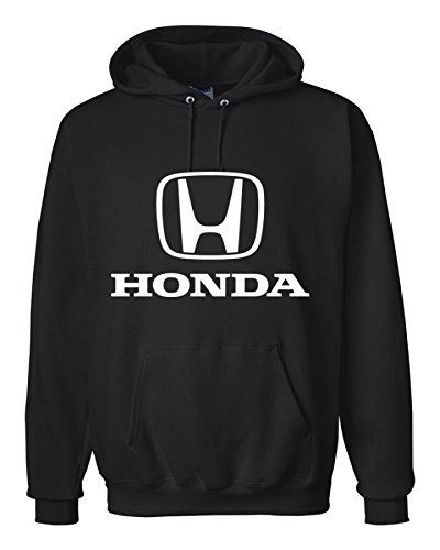 Honda Zip Hoody - Honda Black Hooded Sweat Shirt