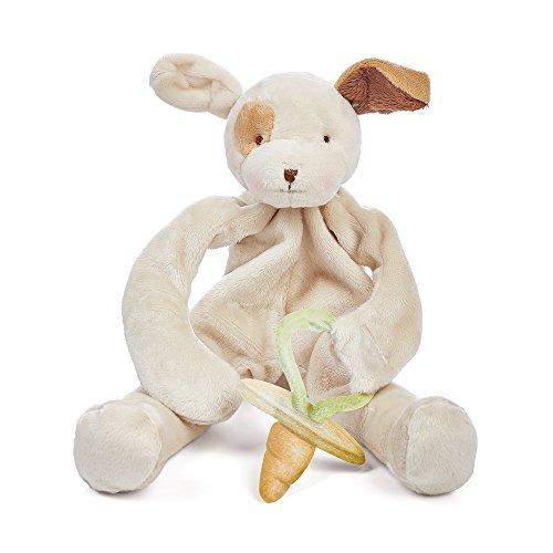 Bunny Pacifier - Bunnies By The Bay Best Friend Skipit Puppy Silly Buddy, Tan with Pacifier Holder