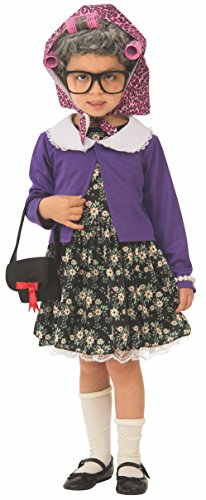 100 Year Old Lady Halloween Costumes Kids - Rubie's Little Old Lady Child's Costume,