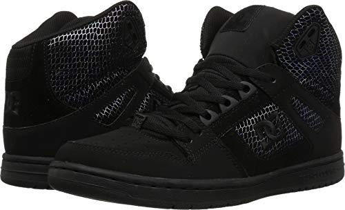DC Women's Pure HIGH-TOP SE Skate Shoe Silver/Black, 8.5 Medium US